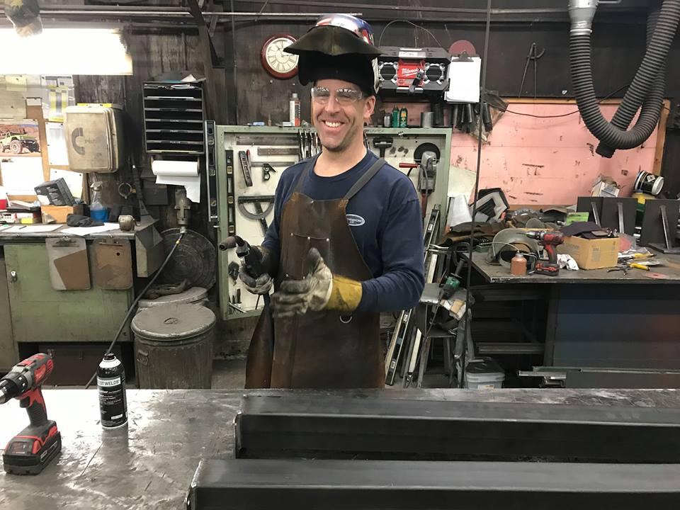 Dave Windey in Custom Metal Fabrication Studio